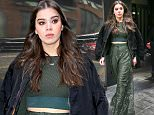 Hailee Steinfeld wears stylish green outfit while leaving the Fox studios in New York City, the singer-actress was wearing a jacket over her shoulders\n\nPictured: Hailee Steinfeld\nRef: SPL1239043  010316  \nPicture by: Felipe Ramales / Splash News\n\nSplash News and Pictures\nLos Angeles: 310-821-2666\nNew York: 212-619-2666\nLondon: 870-934-2666\nphotodesk@splashnews.com\n