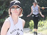 Exclusive... 51983774 'The Real Housewives of Beverly Hills' Lisa Rinna was spotted taking a hike in Tree People park in Los Angeles, California on February 29, 2016.  She was all smiles when she saw the photographer. FameFlynet, Inc - Beverly Hills, CA, USA - +1 (310) 505-9876