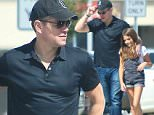 29.February.2016 - Santa Monica - USA\n*EXCLUSIVE ALL ROUND PICTURES*\n*** STRICTLY AVAILABLE FOR UK AND GERMANY USE ONLY ***\nSanta Monica, CA - Matt Damon and Isabella Damon were seen spending some quality time before heading to school. The Oscar nominee went back to his normal routine after a busy night and went into Dad mode right away in the morning after a loss to Leonardo DiCaprio for best actor. The two were smiling and talking as they walked to the car after grabbing a few snacks and coffee. Damon happily posed with a fan before he got into his car and drove away. \nBYLINE MUST READ : AKM-GSI-XPOSURE\n***UK CLIENTS - PICTURES CONTAINING CHILDREN PLEASE PIXELATE FACE PRIOR TO PUBLICATION ***\n*UK CLIENTS MUST CALL PRIOR TO TV OR ONLINE USAGE PLEASE TELEPHONE 0208 344 2007*
