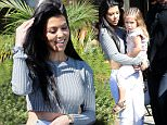 Penelope wants to look like Kim and Khloe with her braids here with Kris Jenner and Kourtney Kardashian in Calabasas feb 29, 2016 X17online.com