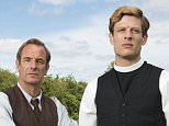 From Lovely Day Productions Grantchester on ITV Encore Pictured: Sidney Chambers [James Norton] and Geordie Keating [Robson Green]. This photograph is (C) ITV Plc / Lovely Day and can only be reproduced for editorial purposes directly in connection with the programme or event mentioned above, or ITV plc. Once made available by ITV plc Picture Desk, this photograph can be reproduced once only up until the transmission [TX] date and no reproduction fee will be charged. Any subsequent usage may incur a fee. This photograph must not be manipulated [excluding basic cropping] in a manner which alters the visual appearance of the person photographed deemed detrimental or inappropriate by ITV plc Picture Desk.  This photograph must not be syndicated to any other company, publication or website, or permanently archived, without the express written permission of ITV Plc Picture Desk. Full Terms and conditions are available on the website www.itvpictures.com For further information please contac