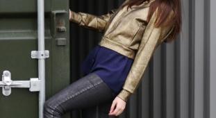 Boohoo gold bomber jacket – the London style