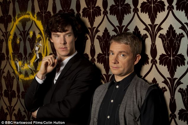 Benedict Cumberbatch (left) as Sherlock Holmes and (right) Martin Freeman, as Dr John Watson. The show is now in its third series