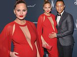 BEVERLY HILLS, CA - FEBRUARY 27:  Model/TV personality Chrissy Teigen (L) and recording artist John Legend attend The Weinstein Company's Pre-Oscar Dinner presented in partnership with FIJI Water, Chopard, DeLeon, and Lexus at the Montage, Marchesa Ballroom on February 27, 2016 in Beverly Hills, California.  (Photo by Charley Gallay/Getty Images for FIJI Water)