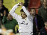 Real Madrid's Cristiano Ronaldo celebrates after scoring against Levante during the Spanish La Liga soccer match between Real Madrid and Levante at the Ciutat de Valencia stadium in Valencia, Spain, Wednesday,  March 2, 2016. (AP Photo/Alberto Saiz)