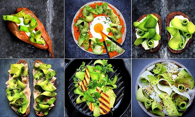 Food blogger Colette Dike creates avocado ribbons that make every meal look amazing