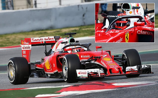 Kimi Raikkonen tests new 'Halo' system on Ferrari in Barcelona as FIA look to roll out
