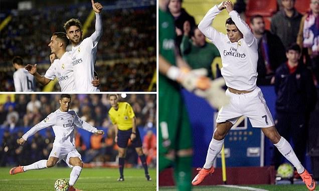 Levante 1-3 Real Madrid:Cristiano Ronaldo lifts the pressure onZinedine Zidane