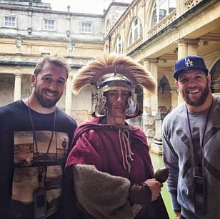 England pair Chris Robshaw and James Haskell soak up the sights in Bath