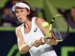 epa05188055 Britain's Johanna Konta returns the ball to Colombian Mariana Duque during a match in the first day of the Monterrey Open in Mexico, on 29 February 2016. The tournament runs from 29 February until 06 March 2016.  EPA/MIGUEL SIERRA