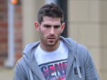 Pic Bruce Adams / Copy Unknown - 7/1/15 Convicted rapist footballer Ched Evans seen at his home near Alderley Edge, Cheshire.- . REXMAILPIX.