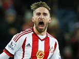 """Football Soccer - Sunderland v Crystal Palace - Barclays Premier League - Stadium of Light - 1/3/16  Fabio Borini celebrates after scoring the second goal for Sunderland  Action Images via Reuters / Jason Cairnduff  Livepic  EDITORIAL USE ONLY. No use with unauthorized audio, video, data, fixture lists, club/league logos or """"live"""" services. Online in-match use limited to 45 images, no video emulation. No use in betting, games or single club/league/player publications.  Please contact your account representative for further details."""