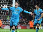 Football UEFA Champions league, Arsenal v Barcelona, Lionel Messi, 2nd goal 2-0