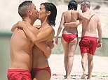 February 25, 2016: 'My Kitchen Rules' contestants JP & Nelly swimming at a beach on the Gold Coast, Australia EXCLUSIVE. Mandatory Credit: INFphoto.com Ref: infausy-28/37