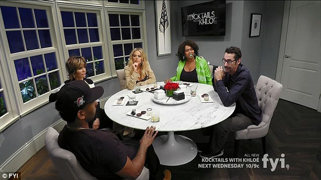 Round table: Lisa Rinna, Marlon Yates Jr., GloZell Green and Kirk Fox joined Khloe on the show