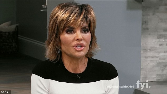 Keeping it real: Lisa Rinna asked Khloe about her split with Harden