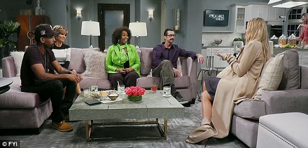 Couch time: Khloe and her guests also sat on couches and talked