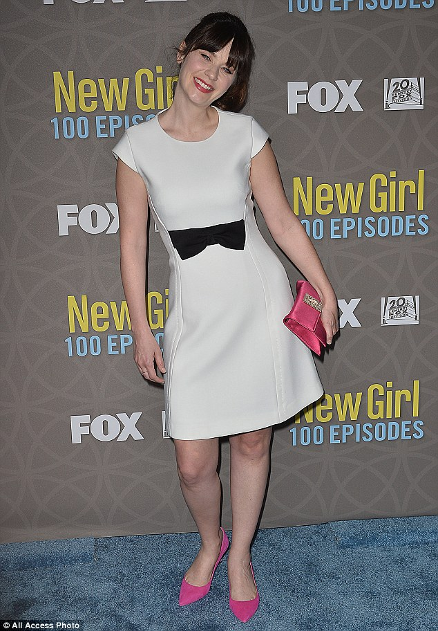 Success! Zooey Deschanel, 36, celebrated New Girl's 100th Episode Party in Los Angeles on Wednesday