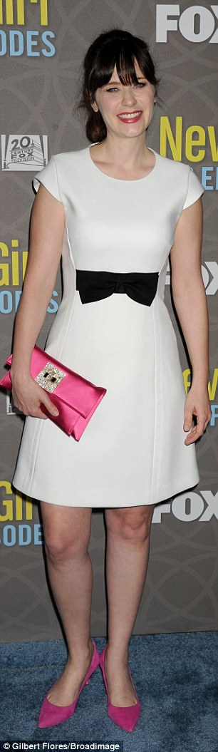 Pop of colour! The Golden Globe nominee accessorized her ensemble with bright pink heels and matching clutch with beaded ornamentation