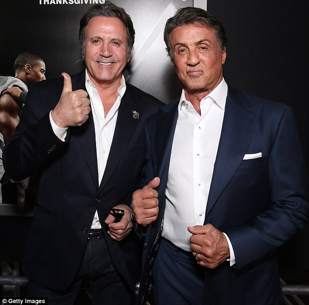 Frank's for the support: Sylvester Stallone came to his brother's defence after his bitter outburst over his loss