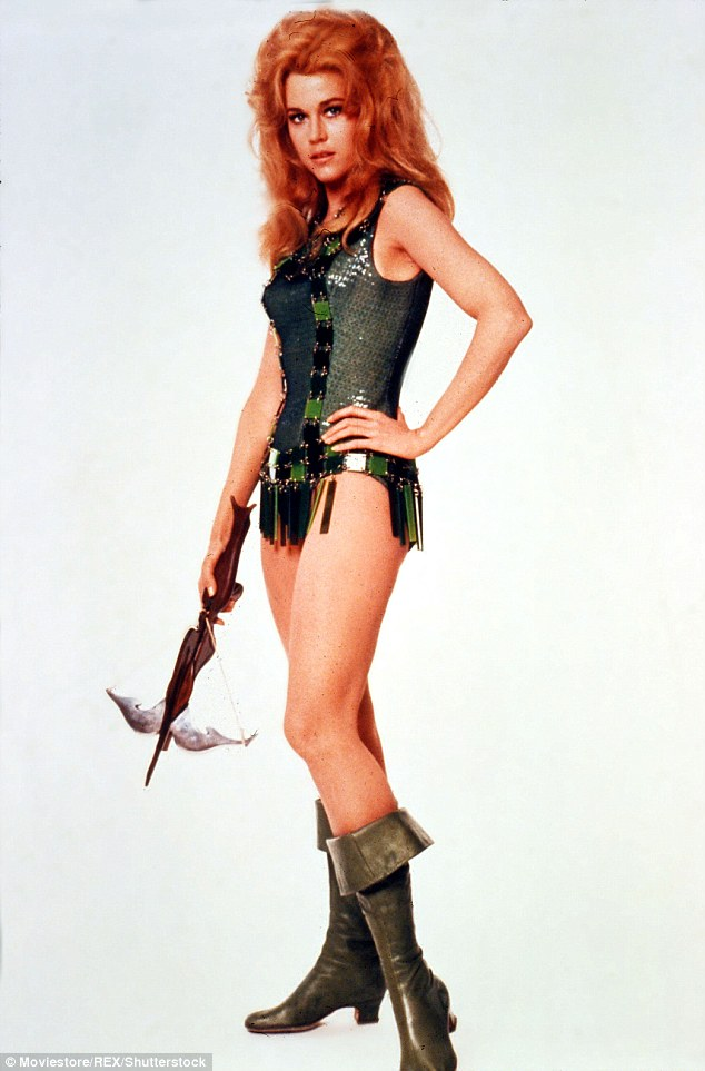 Bombshell: Jane famously starred as the crossbow-wielding vixen in the 1968 fantasy action flick Barbarella