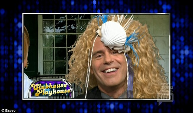 Flashback moments: Andy Cohen was shown in a flashback to a classic Clubhouse Playhouse