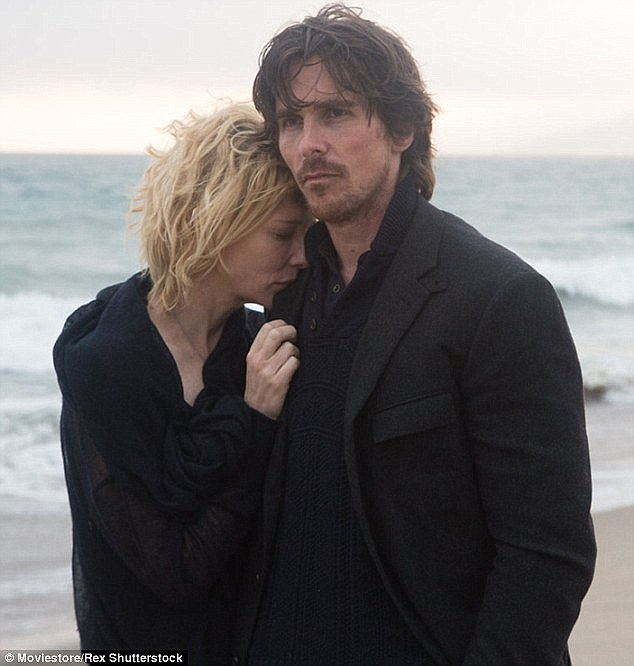 Existential crisis: Christian's character despairs at the futility of it all as he prances around a beach in an Armani suit and gets chased around by scantily clad models in Knight Of Cups