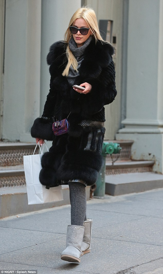 Fur goodness sake! Kelly Rohrback was spotted out in the SoHo district of New York on Wednesday