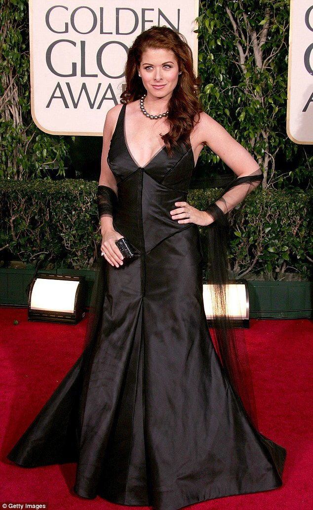 Gorgeous: The red haired beauty is pictured at the Golden Globes in 2005