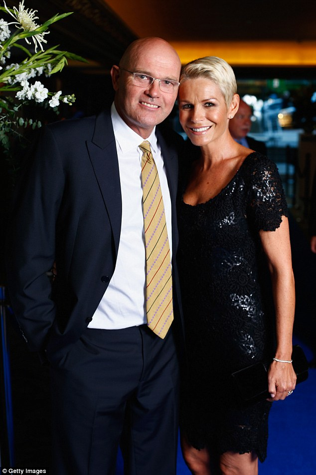 Tragic: Earlier, Martin Crowe's immediate family releaved in a statement that the sportsman died in Auckland on Thursday surrounded by close family and friends