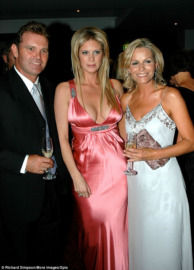 Family man: Crowe and his wife Lorraine (right) supported many charitable causes. Here they are pictured with Rachel Hunter at the New Zealand Breast Cancer Foundation Pearl of the Pacific Gala at the Hyatt Regency, Auckland