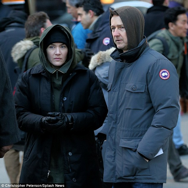 Baby, it's cold outside! The acting duo bundled up for the weather