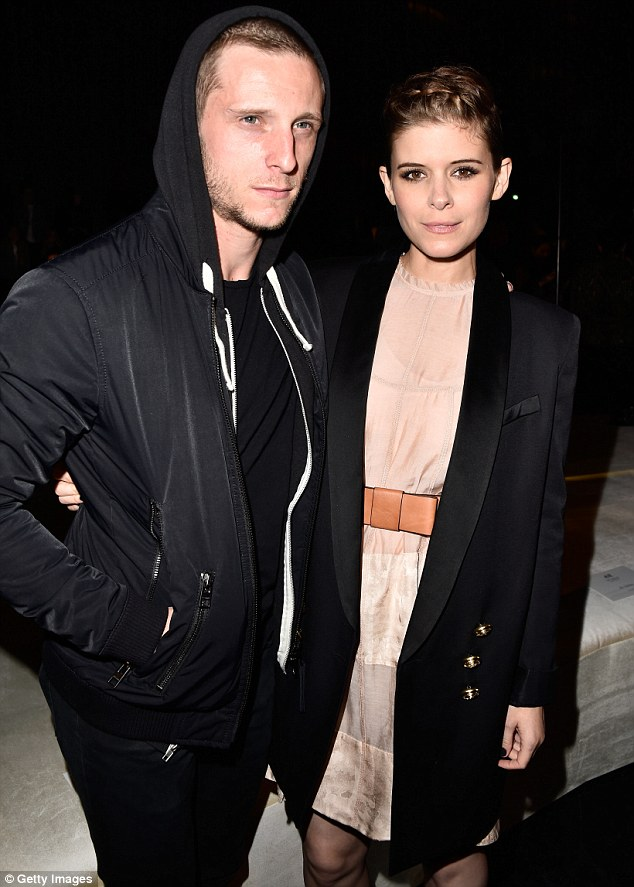 Street style: Her 29-year-old British boyfriend Jamie - who was previously married to Evan Rachel Wood - cut a casual figure in his street style-inspired ensemble