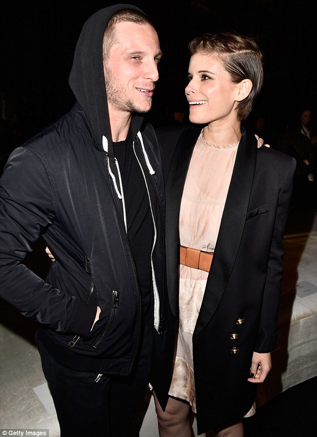 Inseperable: And while the thespian couple rocked looks that were miles apart they could barely keep apart, as Jamie wrapped his arm around Kate in a tender yet protective manner as they entered the event