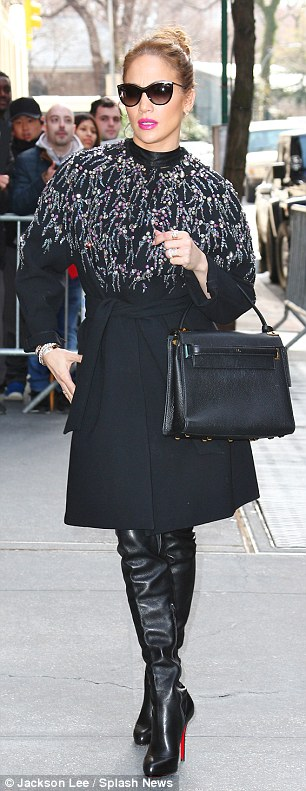 Jenny on the block: Jennifer Lopez stepped out in two very chic outfits in New York on Wednesday