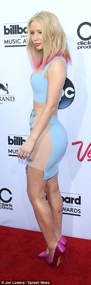 Hollywood makeover: Iggy has also been sporting a slimmer figure compared with last year