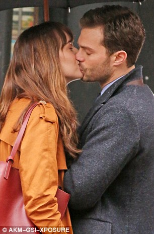 Actors Dakota Johnson and Jamie Dornan may look like a passionate couple as they reprise their roles as Christian Grey and Anastasia Steele on the set of the latest Fifty Shades bonkbuster, Fifty Shades Darker, in Vancouver