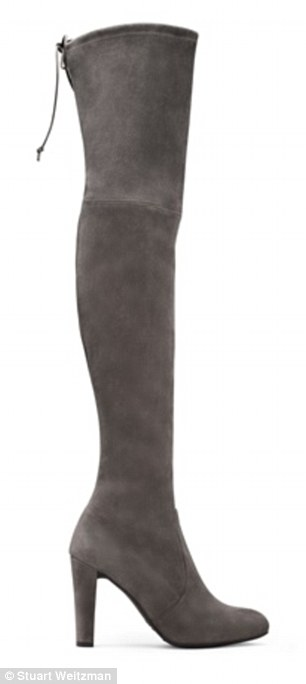 Over the knee: Stuart Weitzman boots, $798, stuartweitzman.com