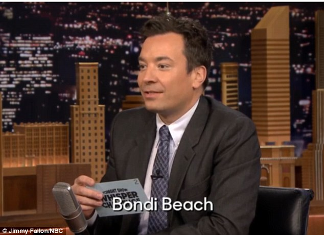 Read my lips... Jimmy repeatedly mispronounced the name of Sydney's most famous coastal strip