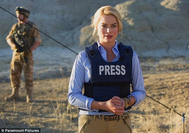 Committed: Before undertaking her role in the film Whiskey Tango Foxtrot, Margot said she read up about foreign correspondents