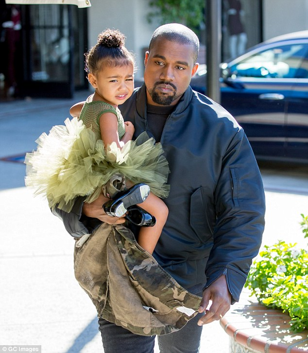 Disney fan? Kanye said his two-year-old daughter North West, seen with her dad on the way to dance class in November, is a big Minnie Mouse fan