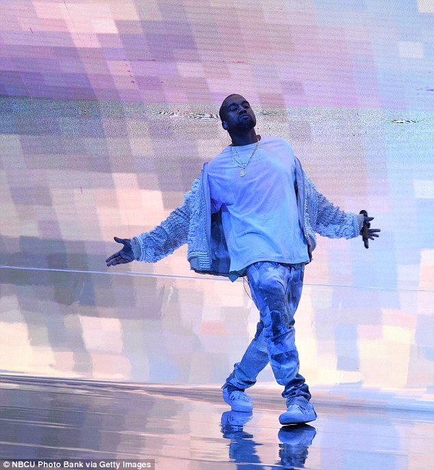 Ultralight beams: Kanye performs on Saturday Night Live last month