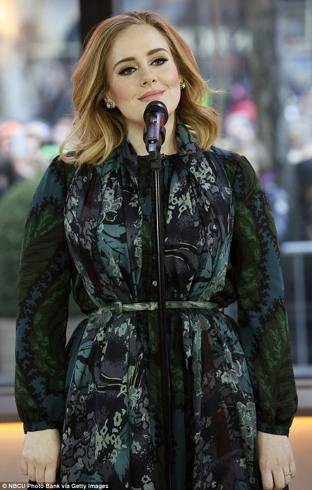 Cementing her relationship with the brand, Adele wears Burberry while performs on the 'Today' show in November