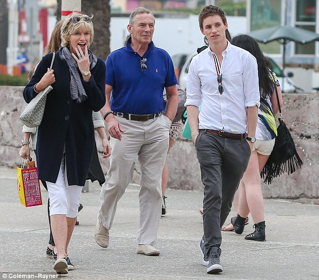 Meet the Redmaynes: Eddie Redmayne looked to be happier than ever as he and his pregnant wife Hannah enjoyed some quality time with the actor's parents in Los Angeles on Tuesday afternoon