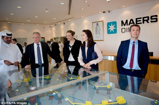 Claim to fame: Earlier that day the couple visited the Maersk Oil's headquarters where they were given a presentation about its history and current role in the country