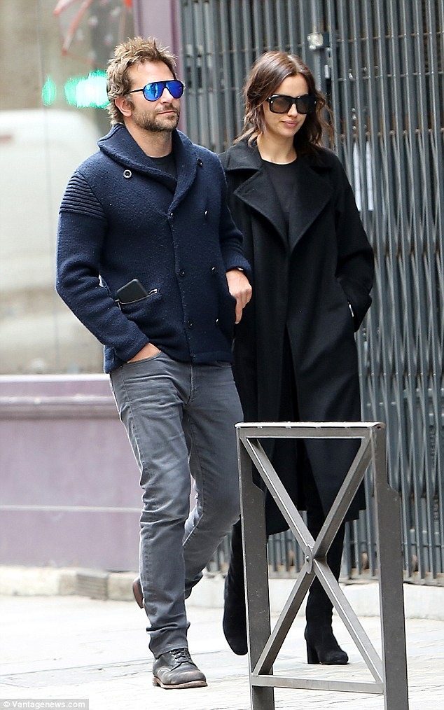 Still an item! Bradley Cooper and Irina Shayk proved they're still very much a couple as they enjoyed a romantic stroll together in Paris on Wednesday