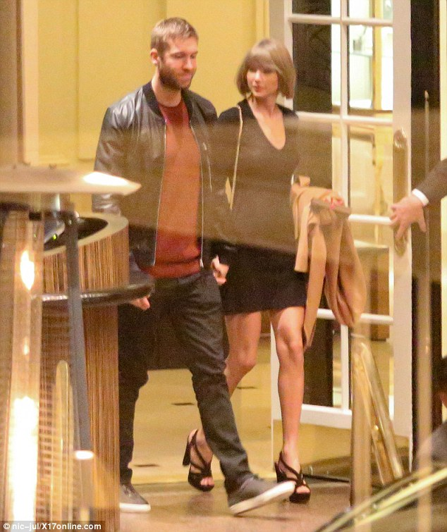 Anniversary date?Taylor Swift and her boyfriend Calvin Harris appeared to be as loved-up as ever while they made their way out of the Beverly Wilshire Hotel on Tuesday night