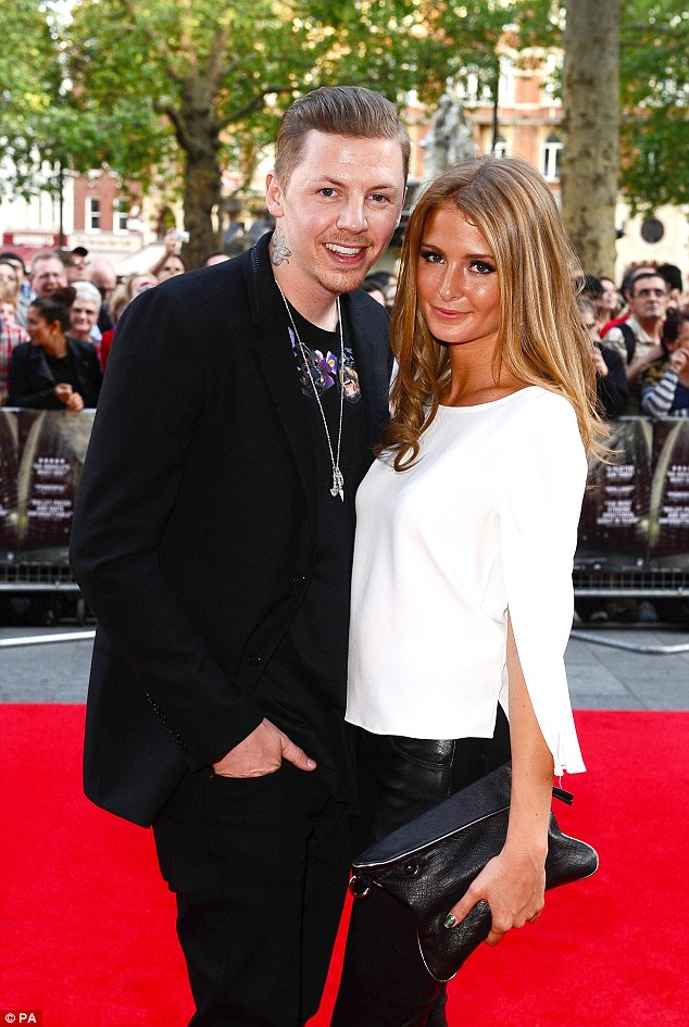 It's over: Millie announced her split from husband Professor Green last month