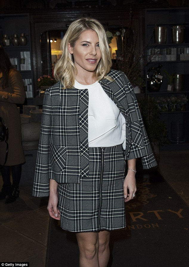 Gorgeous: Mollie ensured her hair and make-up were picture perfect for her night on the town