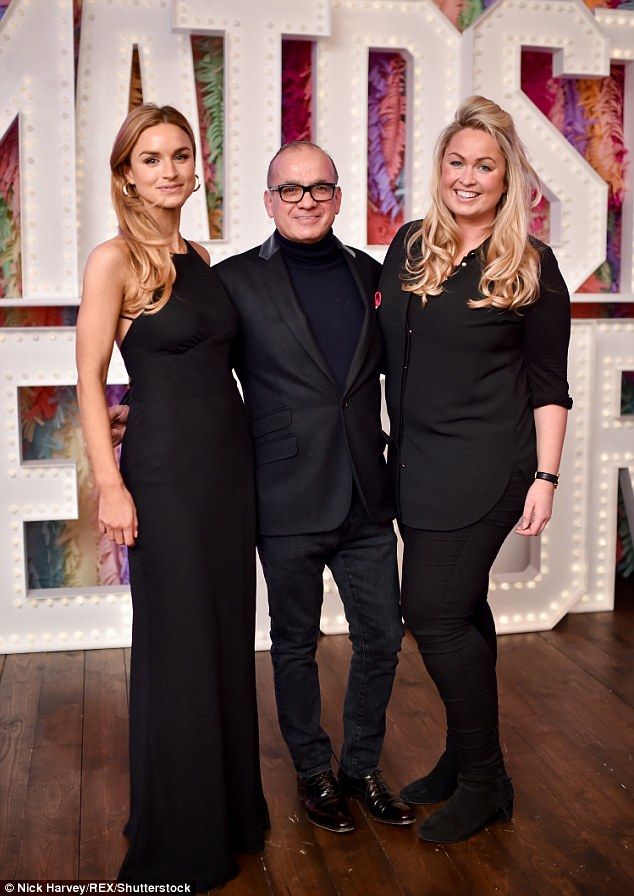 Back to black:India Sellars, Touker Suleyman and Sinclair Sellars all opted to keep their chic ensembles classic by choosing an all-black colour scheme which made them look effortlessly stylish